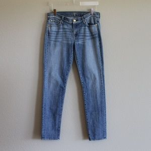 7FAM   The Slim Cigarette Skinny Jeans 29